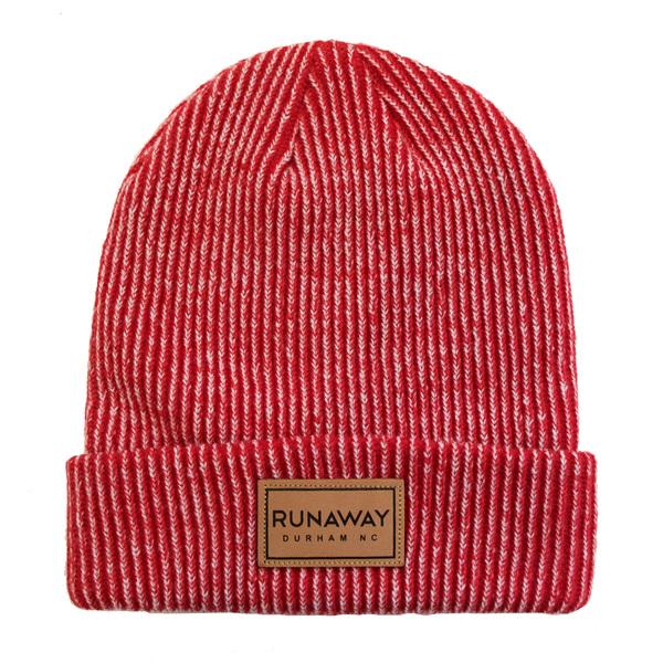 Traveller runaway knit beanie red