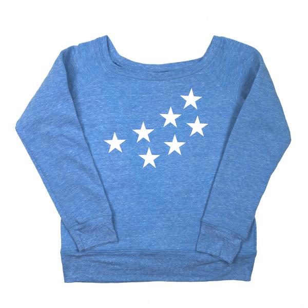 Durm stars off shoulder sweatshirt